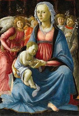 1470 Painting - Madonna With Child And Five Angels by Sandro Botticelli