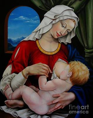 Painting - Madonna With Child by Nathalie Chavieve