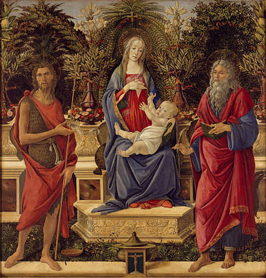 Sandro Botticelli Painting - Madonna With Saints by Sandro Botticelli