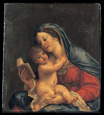 Religious Artist Painting - Madonna With The Child by Francesco Albani