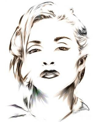 Mixed Media - Madonna by Wu Wei