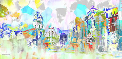 Madrid 1 Art Print by Alfonso Garcia