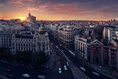 Travel Photograph - Madrid City by Iv?n Ferrero