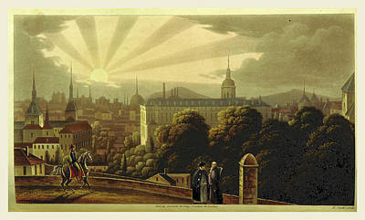 Madrid In 1835. Sketches Of The Metropolis Of Spain Art Print by Litz Collection