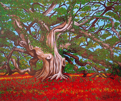 Jimerson Painting - Madusa Tree Searching For Treasure by Annette Jimerson