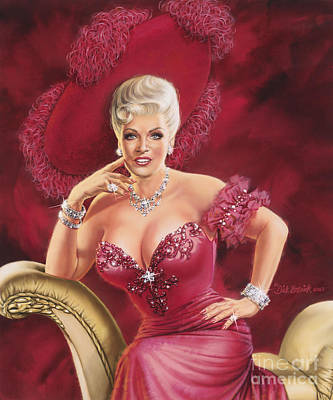 Painting - Mae West by Dick Bobnick