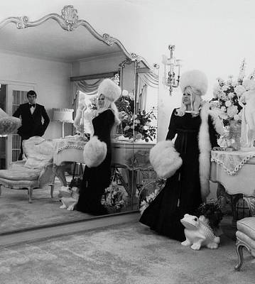 Piano Photograph - Mae West Inside Her Home by Cecil Beaton
