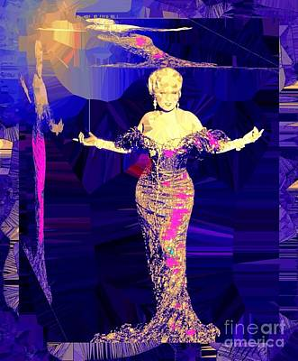 Painting - Mae West. Ladies Embrace Your Curves by Saundra Myles