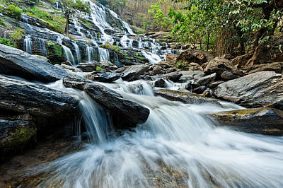 Mae Ya Waterfall Art Print by Ulrich Schade