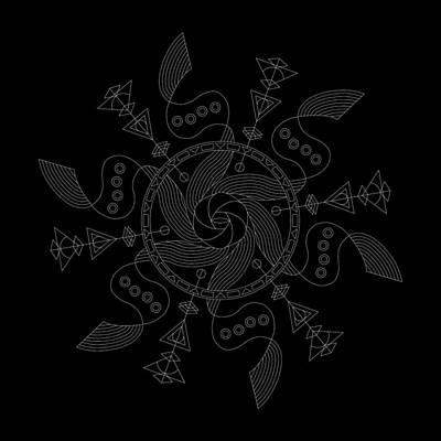 Mayan Digital Art - Maelstrom Inverse by DB Artist