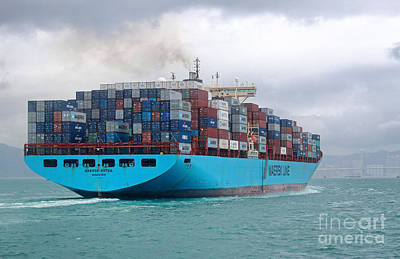 Photograph - Maersk Kotka In Hong Kong by Charline Xia