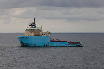Photograph - Maersk Transporter by Gregory Daley  PPSA