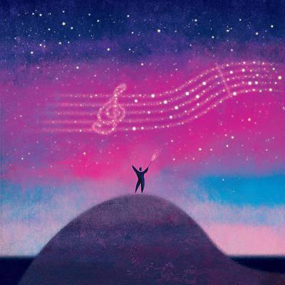 Digital Art - Maestro Of Stars by Roberto Weigand