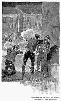 Hennessy Painting - Mafia Killing, 1890 by Granger