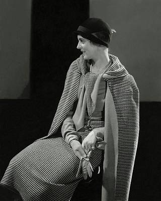 Cloche Photograph - Magaret Shea Wearing A Chanel Suit by Edward Steichen