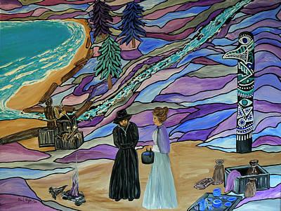 Magdalen Island Settlers Original by Barbara St Jean