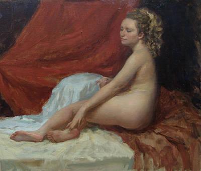 Painting - Magdalena by Korobkin Anatoly