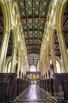 St Mary Magdalene Photograph - Magdalene Aisles by Steev Stamford