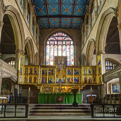 St Mary Magdalene Photograph - Magdalene Church Altar by Steev Stamford
