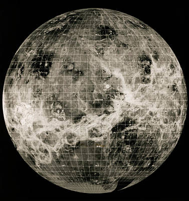 180 Wall Art - Photograph - Magellan Mosaic Of Venus Hemisphere by Nasa/science Photo Library