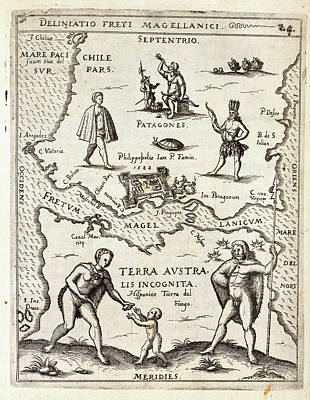 Cartography Photograph - Magellan Strait by British Library