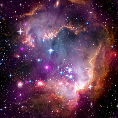 Hubble Space Telescope Photograph - Magellanic Cloud 3 by Jennifer Rondinelli Reilly - Fine Art Photography