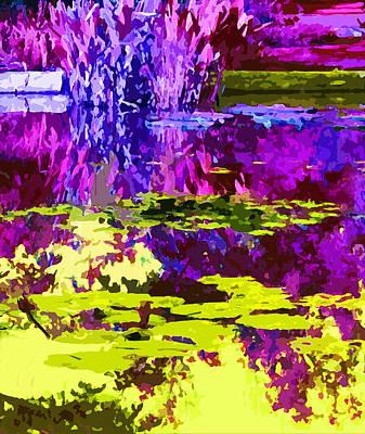 Magenta And Yellow Abstraction Original