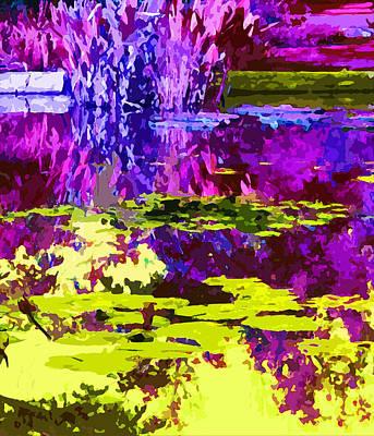 Magenta And Yellow Pond Original