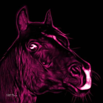Animal Lover Digital Art - Magenta Arabian Horse - 1341 Fs  by James Ahn