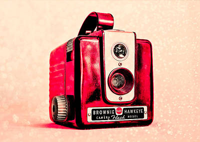 Magenta Brownie Hawkeye Art Print by Jon Woodhams