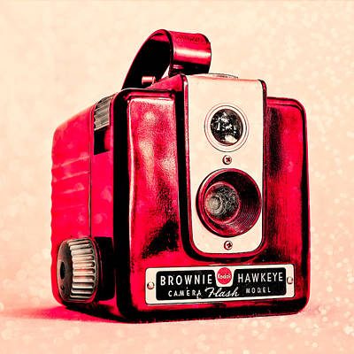 Magenta Brownie Hawkeye - Square Art Print by Jon Woodhams