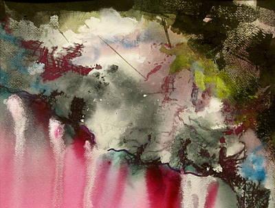 Inner World Painting - Magenta Cliffs by Carole Johnson