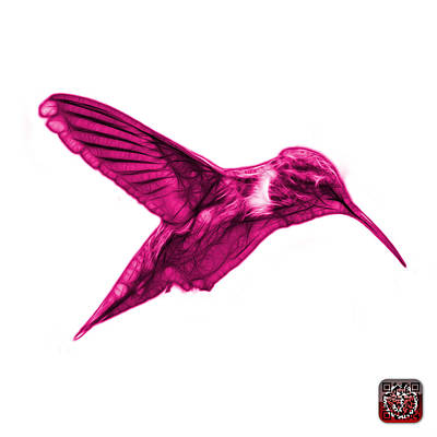 Digital Art - Magenta Hummingbird - 2054 F S by James Ahn