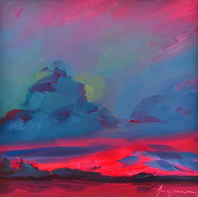 Painting - Magenta Landscape by Patricia Awapara