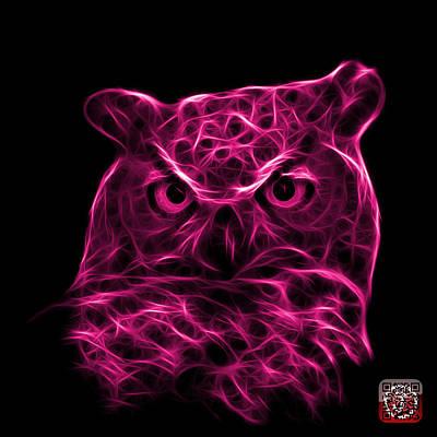 Digital Art - Magenta Owl 4436 - F M by James Ahn