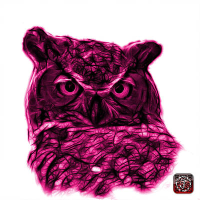 Digital Art - Magenta Owl 4436 - F S M by James Ahn