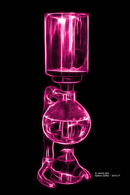 Digital Art - Magenta Siphon Coffee 6781 F by James Ahn