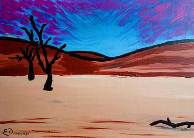 Painting - Magenta Sossusvlei Sky by Eliza Donovan