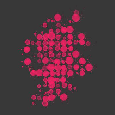 Concentration Digital Art - Magenta Splash by Keidi Sel