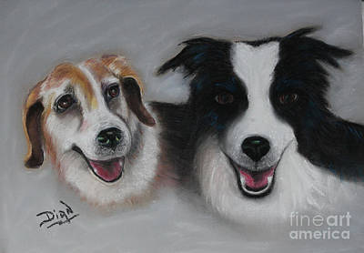 Painting - Maggie And Buckeye by Dian Paura-Chellis