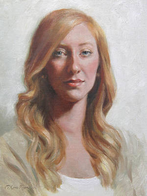 Redhead Painting - Maggie by Anna Rose Bain