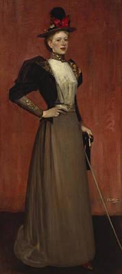 Maggie Hamilton Art Print by Sir James Guthrie