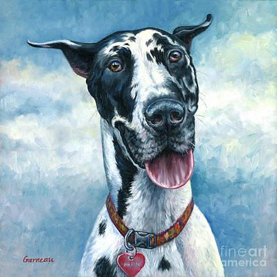 Great Dane Oil Painting - Maggie Mae by Catherine Garneau
