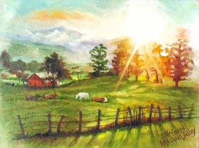 Painting - Maggie Valley Sunrise by Janet McGrath