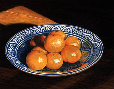 Maggie's Oranges Art Print by Norm Holmberg