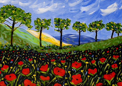 Tuscan Hills Painting - Maggio by Seonaid  Ross