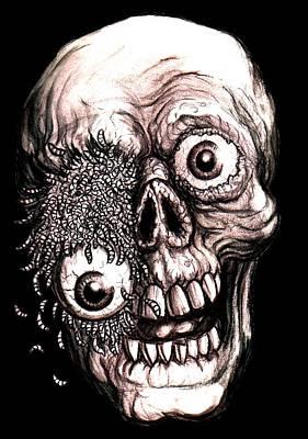 Universal Monsters Painting - Maggotface by Jack Joya