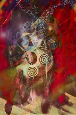 Abstract Movement Digital Art - Magic Bag by Linda Sannuti