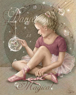 Magic Ballerina Art Print by Beverly Levi-Parker