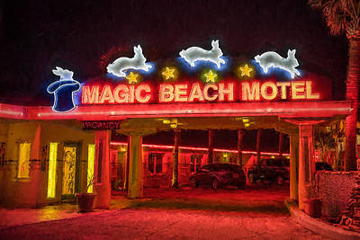 Photograph - Magic Beach Motel by Erwin Spinner